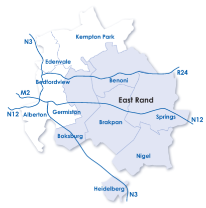 East Rand Map