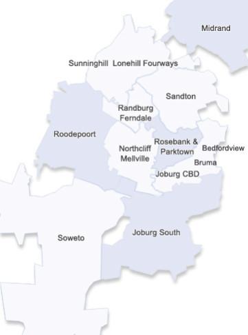 Johannesburg City Map
